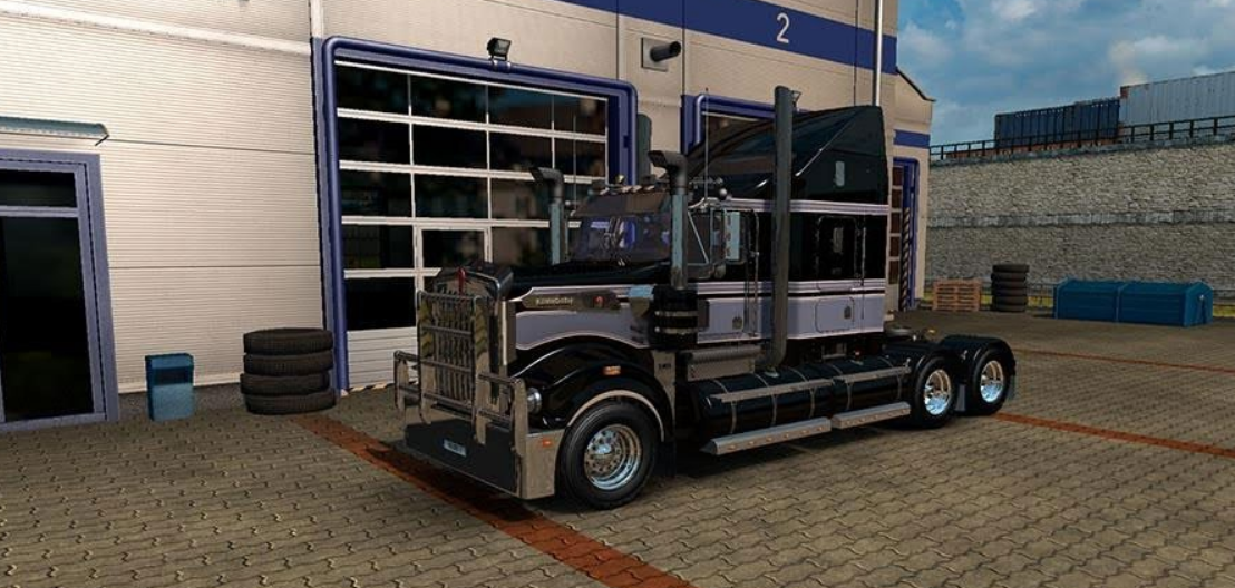 Grey HHA skin for the Kenworth T908 - ATS mod | American Truck ...