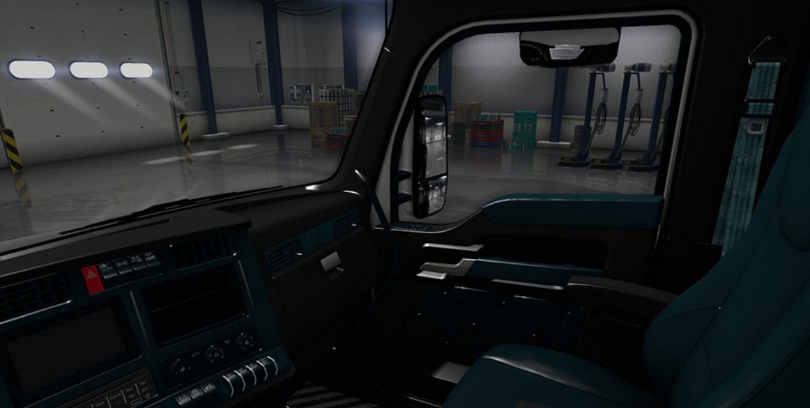 kenworth t680 black teal interior ats mod american truck simulator mod. Black Bedroom Furniture Sets. Home Design Ideas