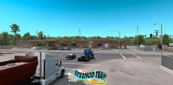 Kenworth T680 with smoke & AI Traffic - ATS mod | American