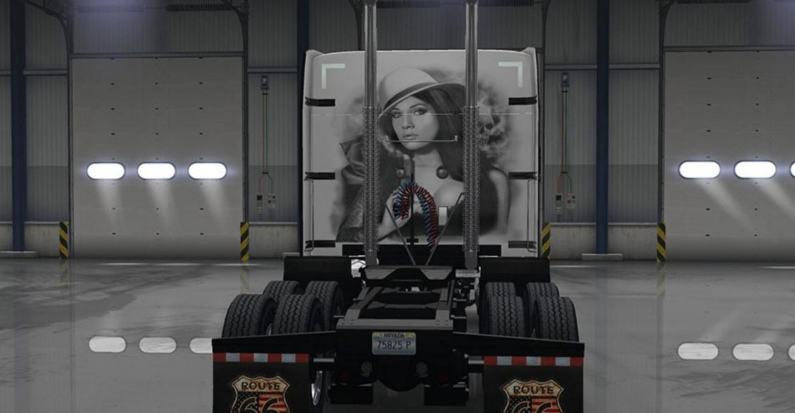 Peterbilt 579 Gangster Girl Skin - ATS mod | American Truck