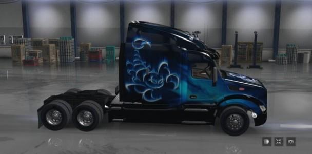 Scorpio blue for peterbilt 579 ats mod american truck for Howell s motor freight