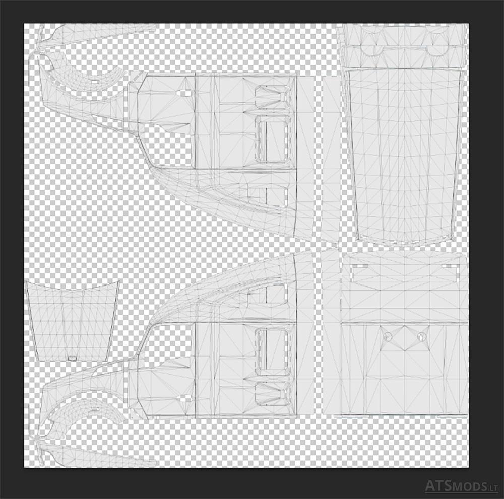 Template for SCS Trucks - ATS mod | American Truck Simulator mod